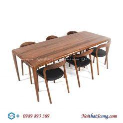 bộ bàn ăn 6 ghế neva