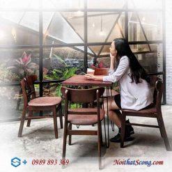 bộ bàn ghế cafe 4 ghế mango